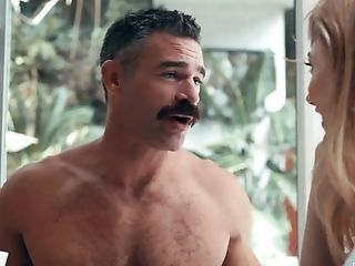 Man With Awesome Mustache Gets Treated With A Good Oral Job By Ivy Wolfe