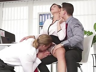 Businessmen Sucking Knob And Fucking Cooter