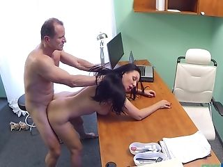 Doctors Office Hidden Webcam Records Eva Ann Sucking Her Medic Off