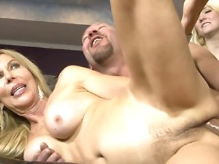 Teenage Blonde Sees Light-haired Mummy Getting Fucked