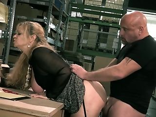 Messy Haired Supply Manager Nicole Gets Pounded By Horny Employee Rather Hard