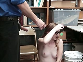 Four Eyed Chick Gracie May Green Is Penalized For Shoplifting In The Back Room