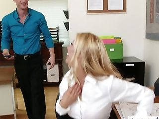 Office Breezy Alexis Fawx Hooks Up With Her Perverted Co-employee