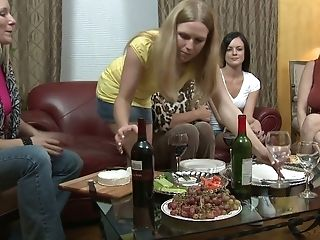 Laci Laine And Her Nasty Gf Is Making Love At The Soiree