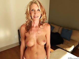 Horny Cougar Fucks And Drinks
