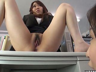 Office Tart Yuka Tsubasa Masturbates On Top Of Her Desk