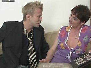 He Fucks Her Hairy Old Gash