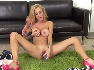Incredible Sex Industry Star Sarah Jessie In Exotic Tattoos, Faux-cocks/playthings Adult Clip