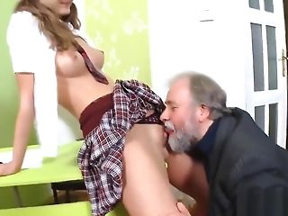 Lovely School Chick Is Taunted And Penetrated By Her Older Lecturer
