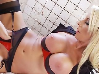 Trampy Prisoner Harmony Entices Fuck-a-thon-appeal Cellmate And Licks Her Slit Voraciously