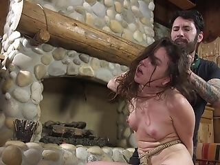 Black-haired Cutie Juliette March Has Her Facehole And Cooter Manhandled
