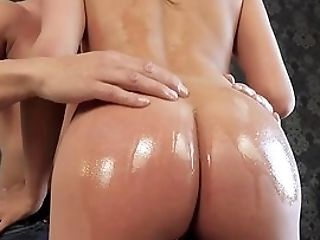 Spunk-guzzler Anissa Kate Gets Her Round Caboose Oiled During A Hot Encounter
