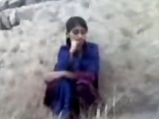 Pakistani Village Dame Fucking Hiding Against Wall