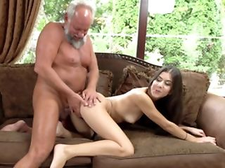 Old Man Still Has Enough Power To Satiate Youthful Mistress